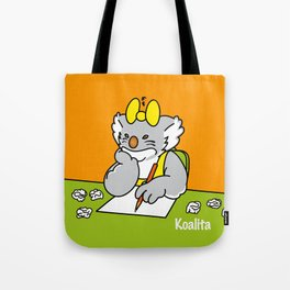 Koalita at school Tote Bag
