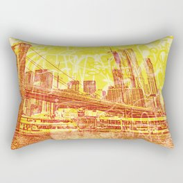 big yellow apple Rectangular Pillow