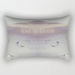 LOVE the OCEAN IV Rectangular Pillow