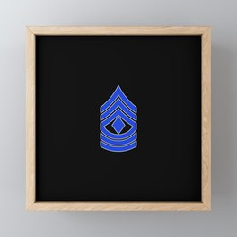 1st Sergeant (Police) Framed Mini Art Print