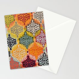 Traditional Oriental Multicolore Rug 3 Stationery Cards
