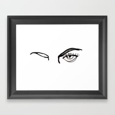 inked eyes Framed Art Print