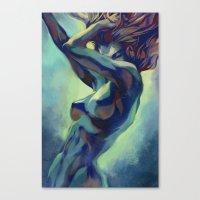 artgerm Canvas Prints featuring Pepper Motion by Artgerm™