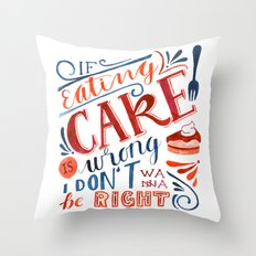Cake Quote | Gilmore Girls Throw Pillow