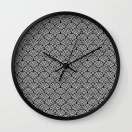 Black Concentric Circle Pattern Wall Clock