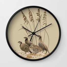 Chukar Partridges Wall Clock
