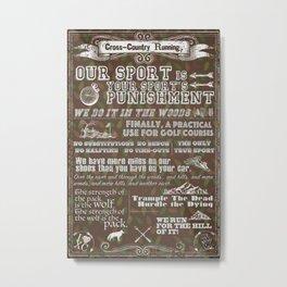 Cross-Country Running 101 Poster Metal Print