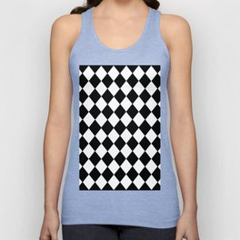HARLEQUIN BLACK AND WHITE PATTERN #2 Unisex Tank Top