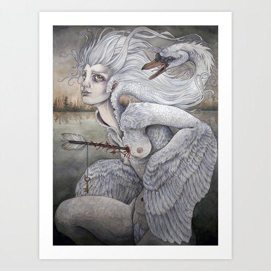 the swan maiden Art Print