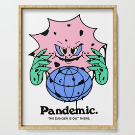 "Pandemic (The Danger Is Out There) ""Rona Virus"" Serving Tray"