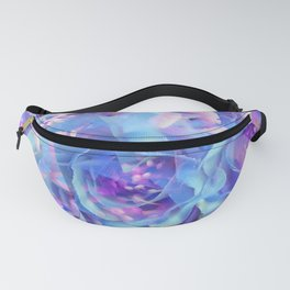 blooming blue rose texture abstract background Fanny Pack