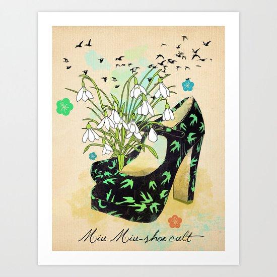 Miu Miu-shoe cult Art Print