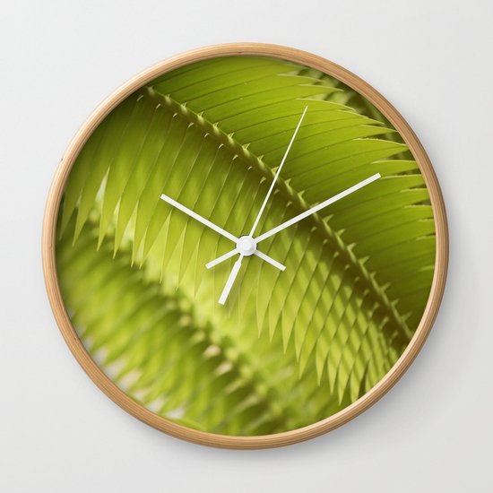 Lemon Grass Wall Clock