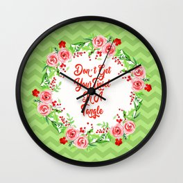 Don't Get Your Tinsel in a Tangle Magnolias Wall Clock