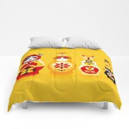 Russian Nesting Dolls – Yellow & Red Comforters