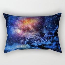Dark Blue Constellation - Watercolor Galaxy Rectangular Pillow