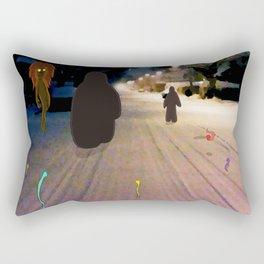 Snow Road Rectangular Pillow