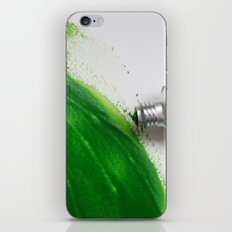 Painting Green #4 iPhone & iPod Skin