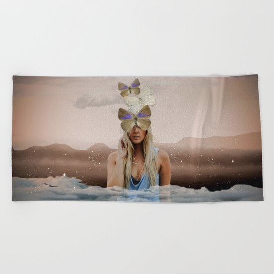 Butterfly Face Beach Towel