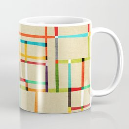 The map (after Mondrian) Coffee Mug