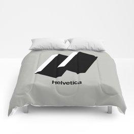 HAPPY HELVETICA Comforters