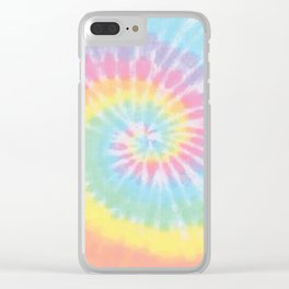 Pastel Tie Dye Clear iPhone Case