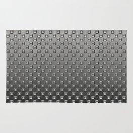 Silver Shine square embellishment on grey Rug