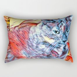 The TORTIE from our FUNK YOUR FELINE line Rectangular Pillow