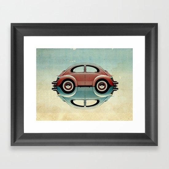 4 speed Bug Framed Art Print
