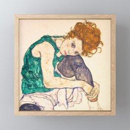 "Egon Schiele ""Seated Woman with Legs Drawn Up"" Framed Mini Art Print"