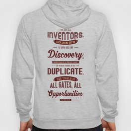Lab No. 4 We Are All Inventors Ralph Waldo Emerson Inspirational Quote Hoody