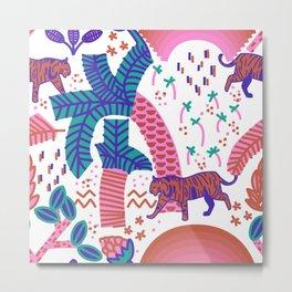 surreal tropical jungle pattern Metal Print