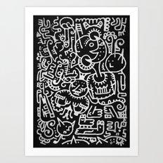 Moonbeasts Art Print