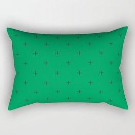 Crosses on Green Rectangular Pillow