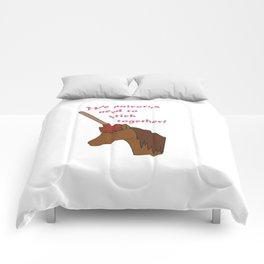 Unicorns need to stick together Comforters