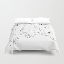 Ghost Monster Halloween Duvet Cover