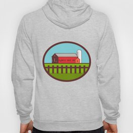 Farm Barn House Silo Oval Retro Hoody