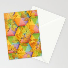 Harlequin Rainbow Leaves Stationery Cards
