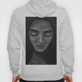 On My Mind by Lu, black-and-white Hoody