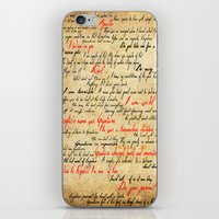 grantaire iPhone & iPod Skins featuring Grantaire by Jessica Latham