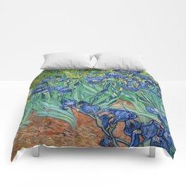 Irises by Vincent Van Gogh, 1889 Comforters
