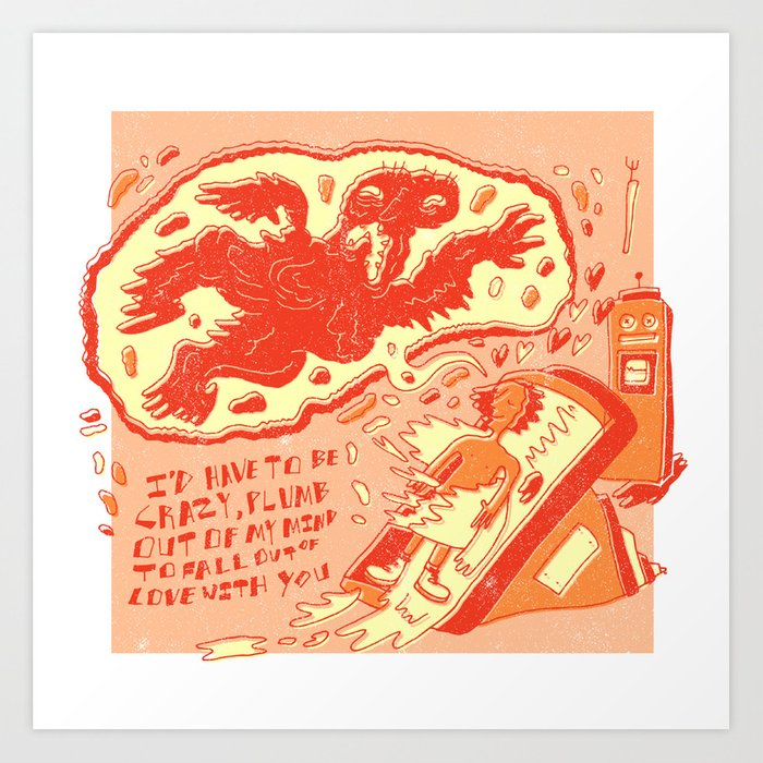 """Altered States X Willie Nelson """"I'd Have To Be Crazy"""" Art Print"""