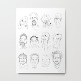 Ancient Aliens - Cast of Caricatures Metal Print