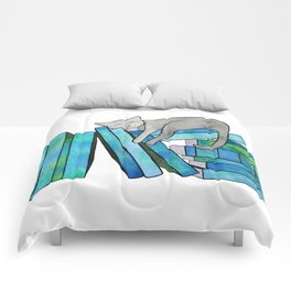 Literary Naps Blue Comforters
