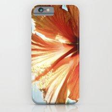 Coral Hibiscus Slim Case iPhone 6s
