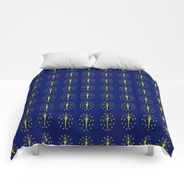 flag indiana,midwest,america,usa,carmel, Hoosier,Indianapolis,Fort Wayne,Evansville,South Bend Comforters