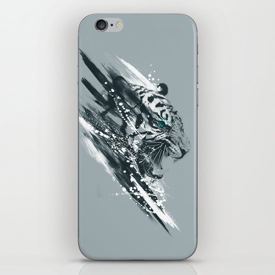 white tigra iPhone & iPod Skin