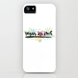 Vegan As F##k iPhone Case