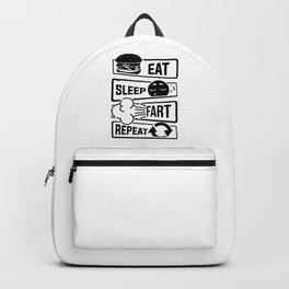 Eat Sleep Fart Repeat   Farting Flatulence Smell Backpack