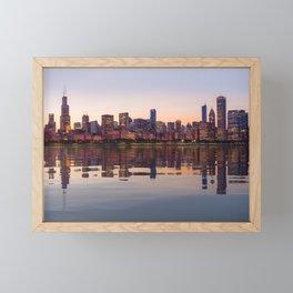 Panorama of the City skyline of Chicago Framed Mini Art Print